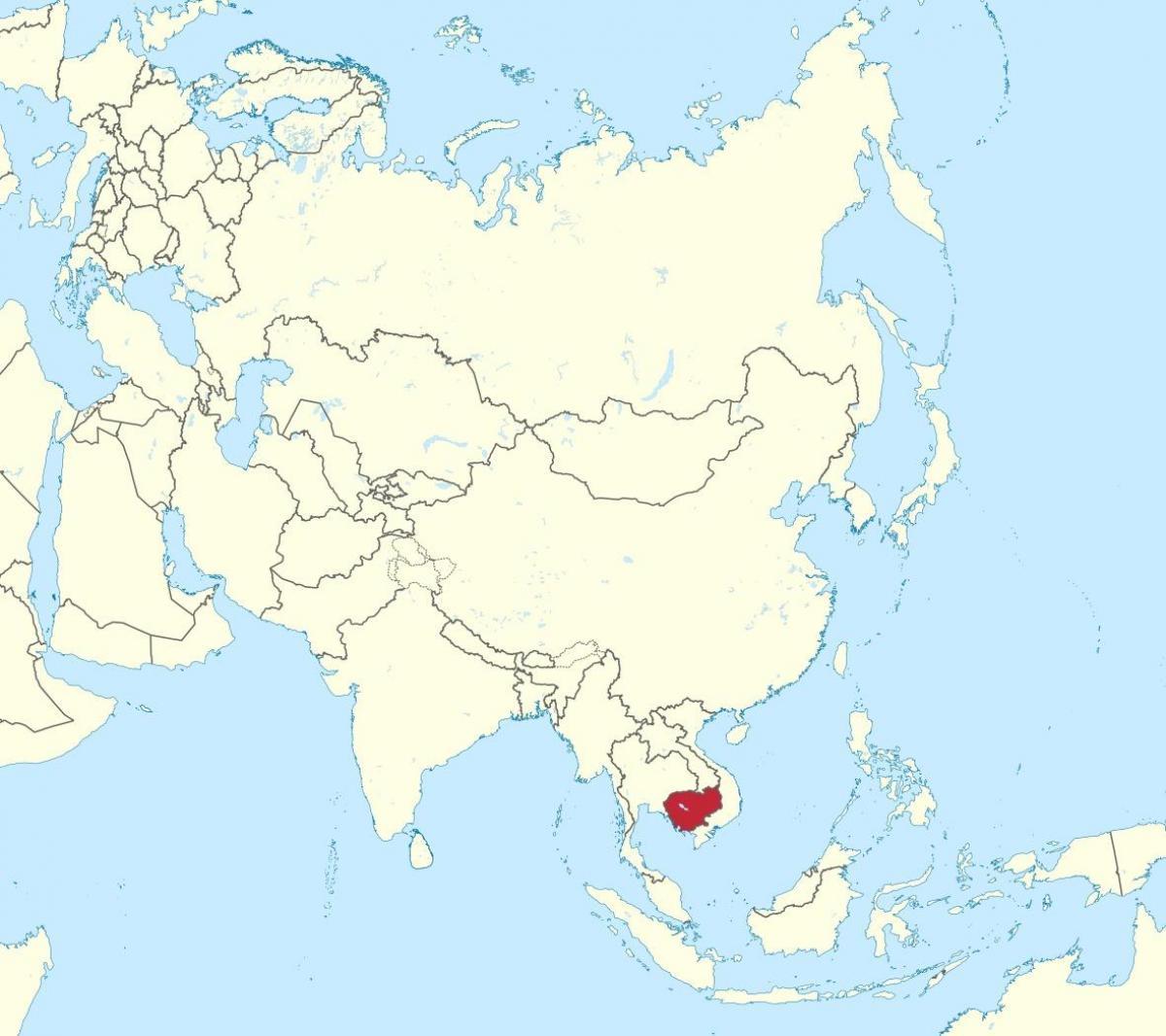 Cambodja Kort I Asien Kort Over Cambodja I Asien Syd Ostlige